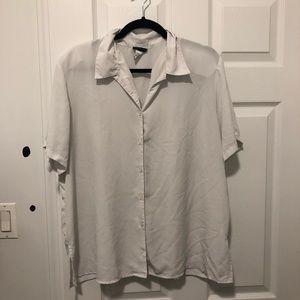 Womens white button down blouse size 1X